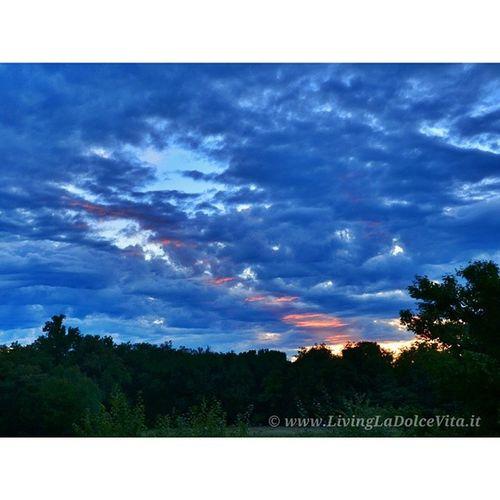 Sunset over Morazzone LivingLaDolceVita