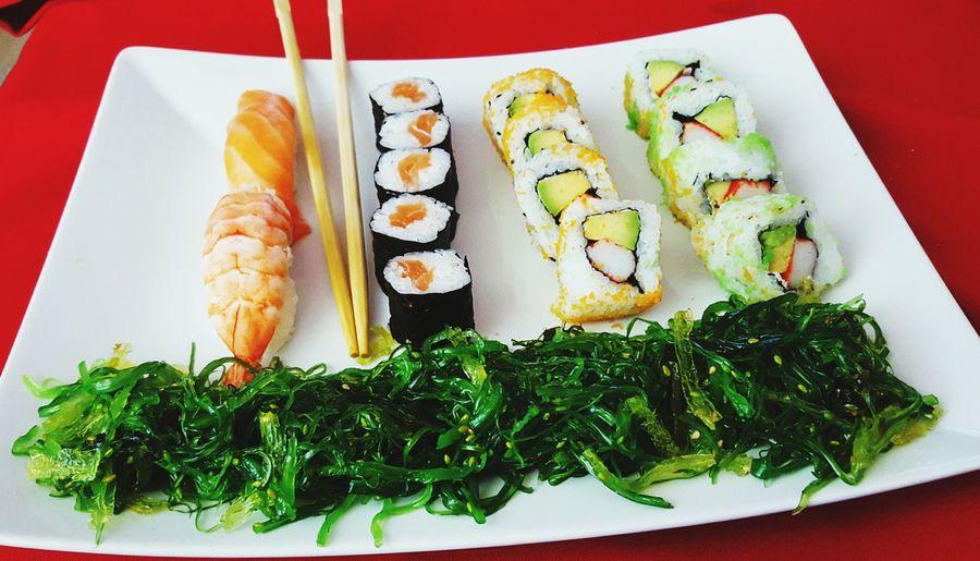 Sushi Fitnessfood Food Healthy Food Salad Algensalat Geil WorkoutFood Proteinpowder Proteinfood