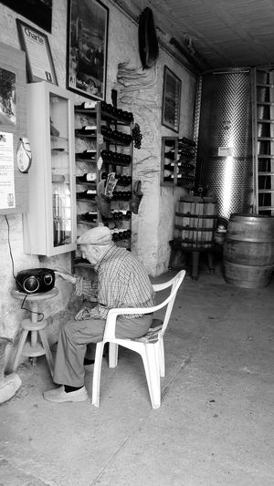 Wine Indoors  One Person Wine Man Black And White Blackandwhite Photography Black And White Collection  Wine Not