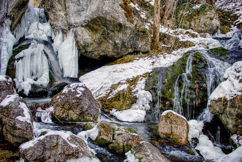 Beauty In Nature Cold Temperature Day Glacial Ice Myrafaelle Myrafällle Nature No People Outdoors Rock - Object Scenics Snow Water Waterfall Winter