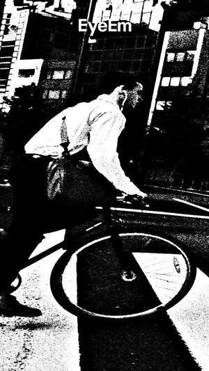 STRANGE ASPECTS Blackandwhite Bicycle