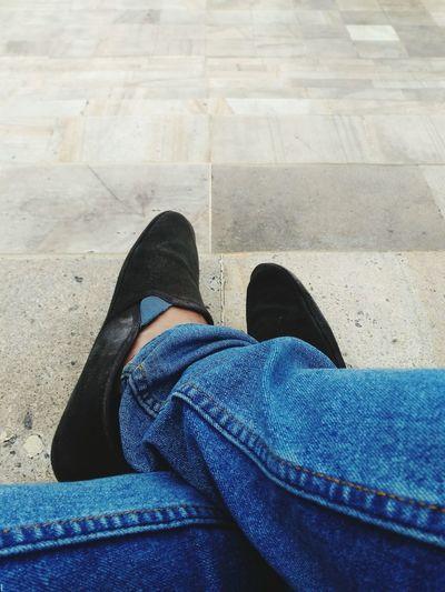 a pair of wondering foot. Travel Traveler Wanderer Wanderlust Bali Enjoy Travelblogger Weekend Weekender #EyeEm #EyeEmSelects #EyeEmBestShots #eyeemphotography #jeans Standing Canvas Shoe Pair Menswear Dress Shoe Legs Crossed At Ankle Flat Shoe Footwear Denim Human Feet Foot Wearing Things That Go Together Human Limb Slipper