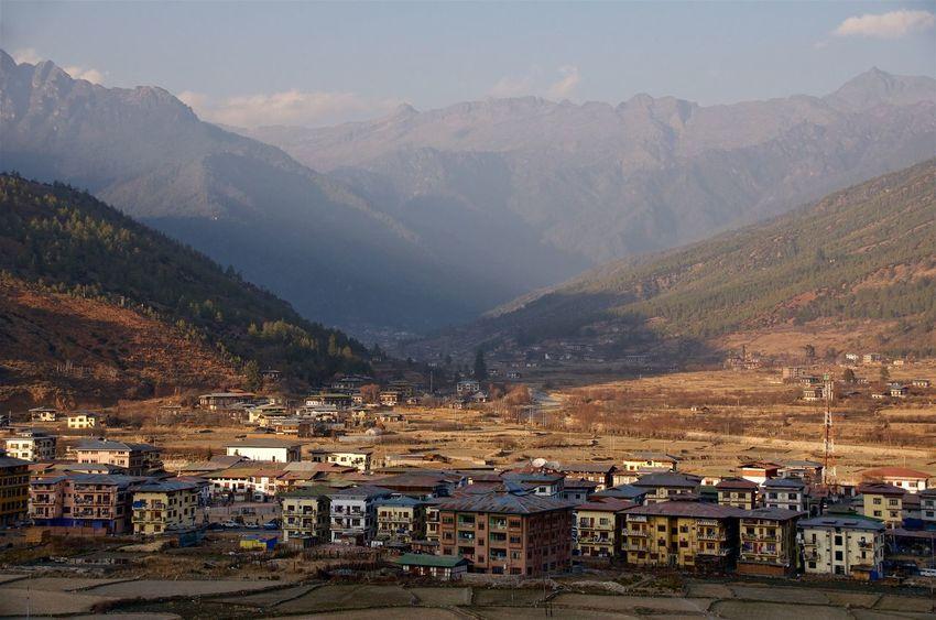 Paro Valley, Bhutan. Bhutan Paro Mountain Valley Mountains Mountains And Valleys Mountain View Mountain Town Bird's Eye View Mountain Panorama A Bird's Eye View