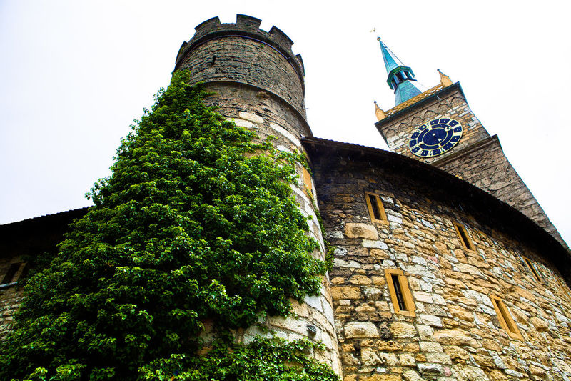 Architecture Building Story Church Green Color Hard Times History Low Angle View No People Old Oldchurch Outdoors Rain Day Rain Drops Rain ♥ Sky The Past Switzerland Biel Old Town