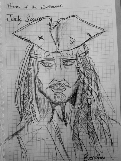 Portrait Draw Something Mydrawings Pirates Of The Caribbean Captain Jack Sparrow Johnny Depp