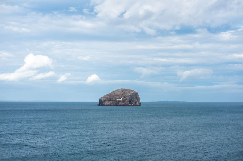 Bass Rock Beauty In Nature Cloud - Sky Day Horizon Over Water Nature No People Outdoors Scenics Sea Sky Tranquil Scene Tranquility Water Waterfront