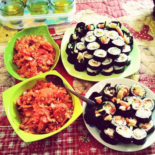 Asian Culture Korean Food Kimbab made by myself