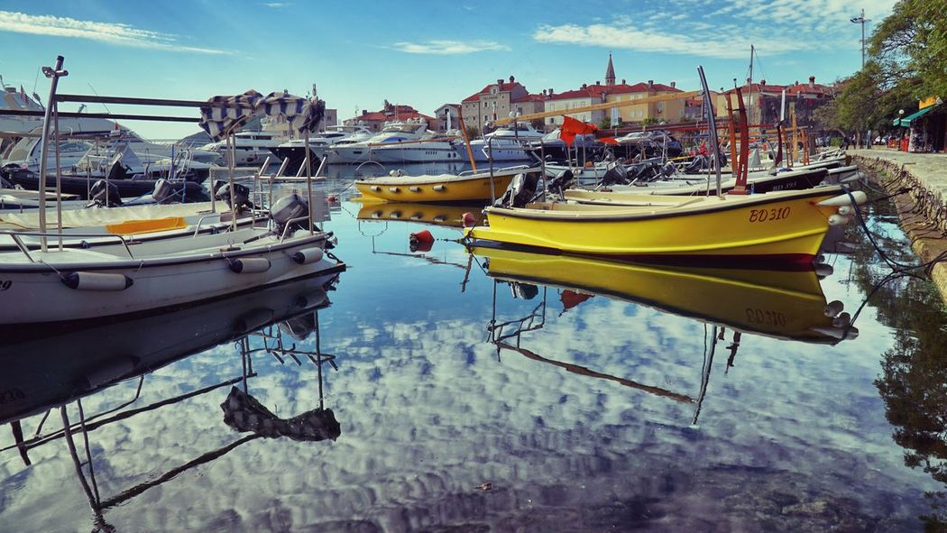 Budva, Montenegro Blue Blue Sky Boat Budva Budva,Montenegro Color Day Harbor Lake Marina Mode Of Transport Montenegro Moored Nature Nautical Vessel No People Outdoors Reflection Sailboat Sky Transportation Water Waterfront Yacht Yellow The Week On EyeEm