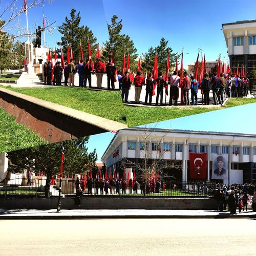 Kars 23 Nisan Turkey Celebration Flag Ceremony My Favorite Photo