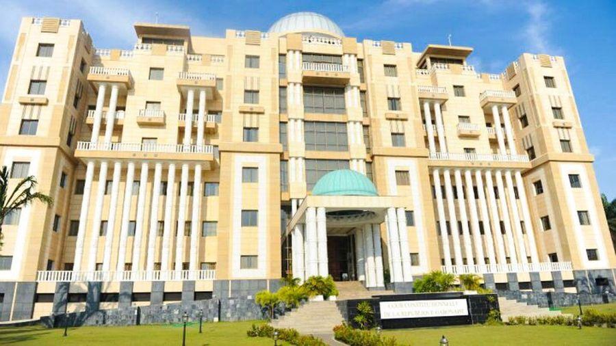 Cour constitutionnelle Gabonaise Architecture Built Structure Façade Gabon Libreville Africa