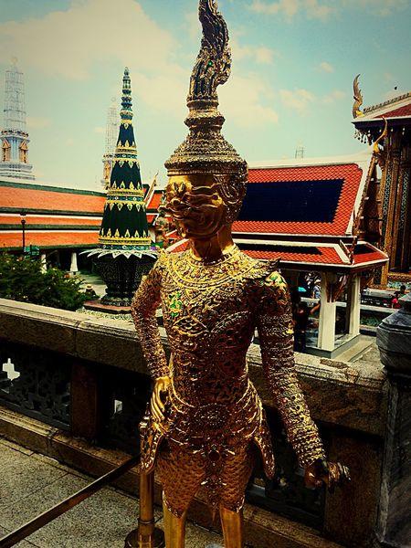 Gold Goldman Statue