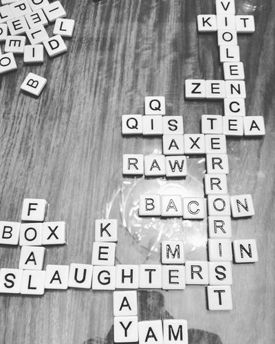 When your girlfriend's family says they want to play a fun game of Bananagrams ...