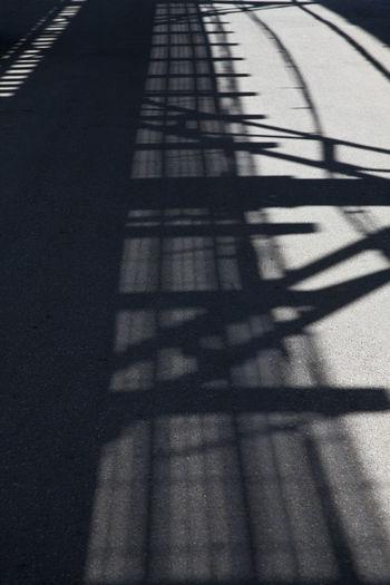 Asphalt Day Focus On Shadow Road Shadow Shadow Of Viaduct On The Road Sunny
