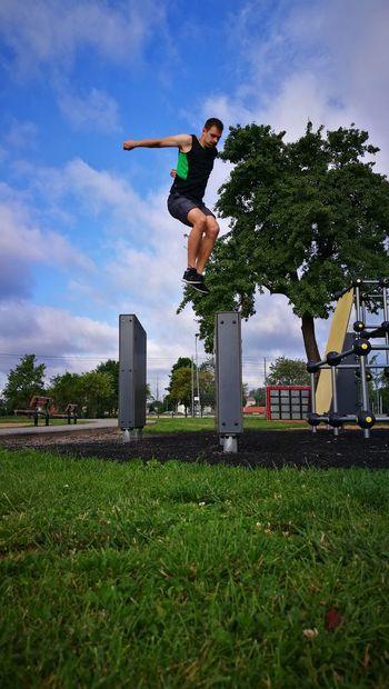 Adventure Club Parkour Training Jumping Parkour Excercise