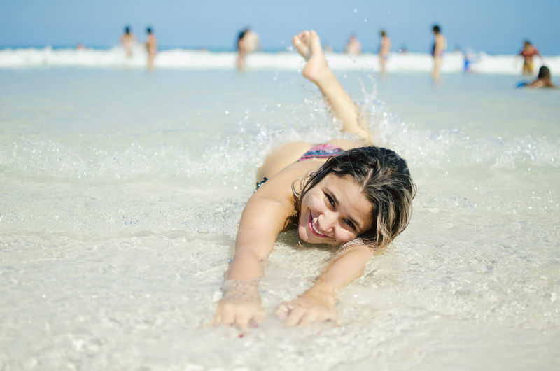 Water Land Sea Beach Leisure Activity Enjoyment Nature Holiday Vacations Happiness Fun Trip Sand Smiling Portrait Women Day Child Outdoors Human Arm