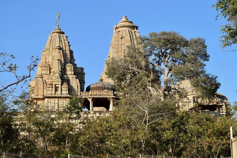 View of Temple at Chittorgarh Fort Architecture Building Exterior Built Structure Business Finance And Industry Chittorgarh Fort Day Heritage Site No People Outdoors Place Of Worship Religion Temple Temple - Building Tree