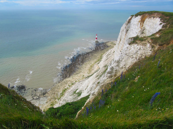 Beachy Head Beauty In Nature Blue Chalk Cliffs Cliff Grass Lighthouse Outdoors Scenics Sea Sky The Great Outdoors - 2016 EyeEm Awards Tranquil Scene Tranquility Water
