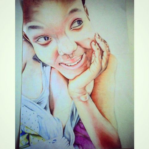 Southafricanartist Drawing Colourpencils Lady Unfinisheddrawing DoomDoom Gifted