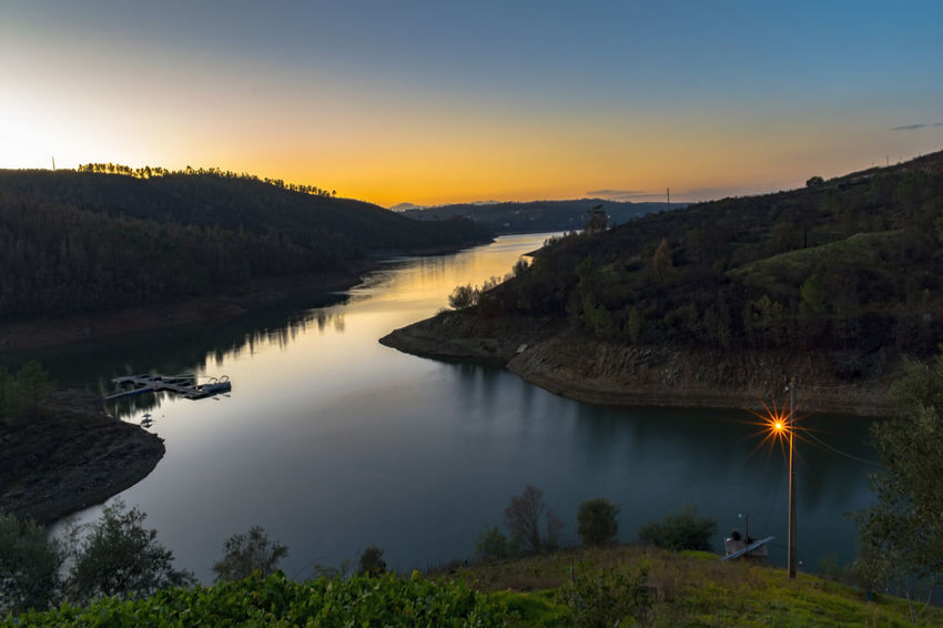 Aldeia do mato Tourism Visiting Weekend Photography River Landscape_Collection Nikon Lake Water Outdoors Sunset Landscape No People Tree Travel Destinations Sky Nature Tranquility Scenics Beauty In Nature Forest Mountain Night
