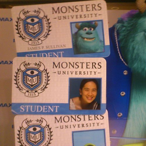 Enjoyed watching oblivion today with hubby and mom lian. Look who I catched in the cinemas Monsters university JamesSullivan