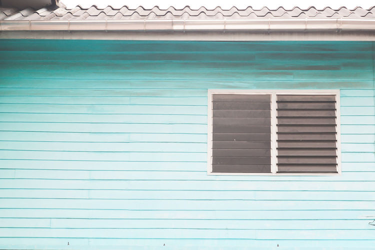 Wooden wall blue color, Home exterior, Vintage style Exterior Green Home Roof Wall Architecture Blue Building Exterior Built Structure Day Design Grunge House No People Outdoors Texture Vintage Window Wooden