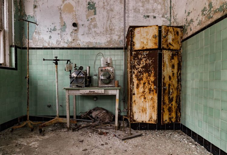 Equipment left behind at sanatorium. Sadly a deer carcass too Abandoned Decay Urban Exploration Abandoned Places Abandoned & Derelict Canon7d  Demolitionbyneglect Sanatorium Forgotten Places  Eyeem Abandonment EyeEm_abandonment Asylum