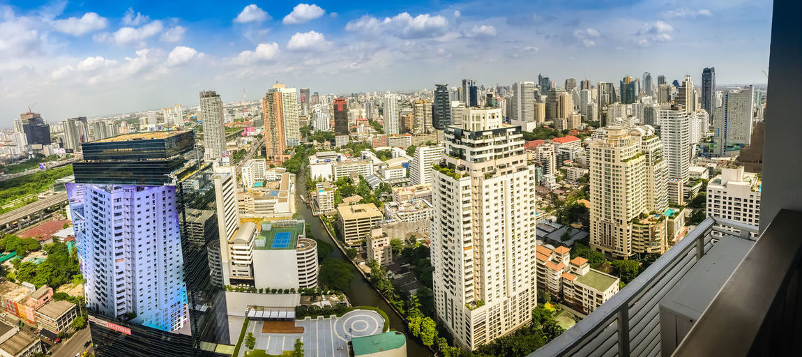 Skyline of big city full of skyscrapers in the business district of Bangkok, view from condominium in Petchburi Road Bangkok Bangkok Thailand Bangkok Thailand. Bangkok City Bangkok, Thailand City City Life City Street Cityscape Condo Sky And Clouds Skyline Bangkok Life Bangkok Sky Bangkok Skyline Bangkok View Business District City View  Citylife Condominium Petchburi Road Skyscraper