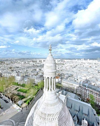 Good Evening Paris! Bonne Soirée Spring Photooftheday Paris ❤ EyeEm Best Shots Parisweloveyou Paris Eyem Best Shot - Architecture Architecture Clouds And Sky Sacre Coeur