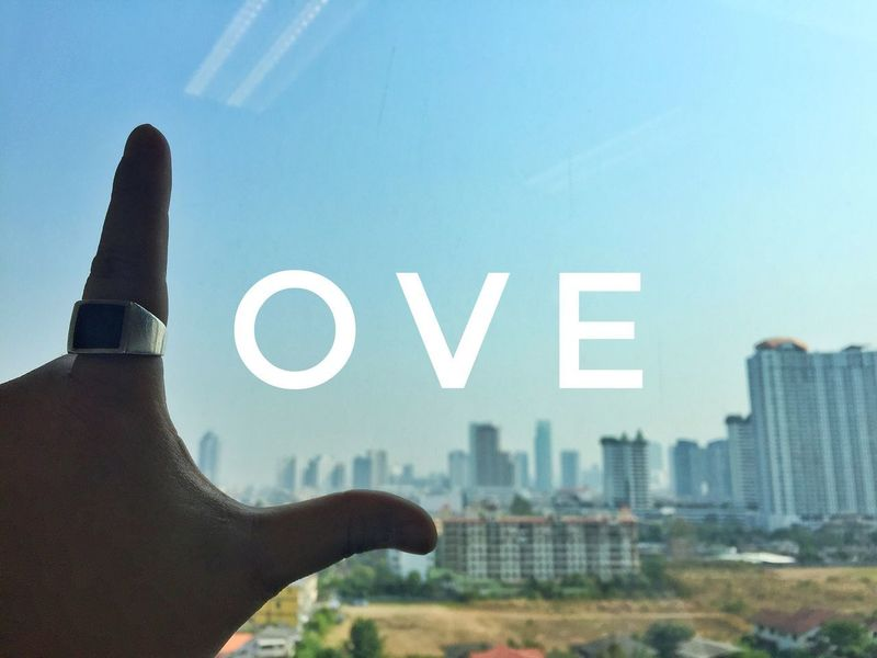 Hand Love Wording City View