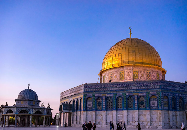 View of masjidil aqsa mosque against clear sky