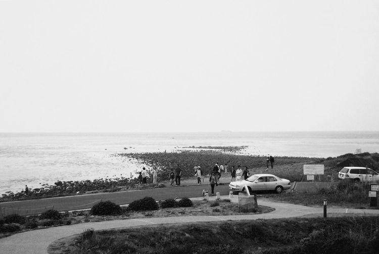 角島。 Sea Seaside Monochrome Blackandwhite Tsunoshima Yamaguchi, Japan