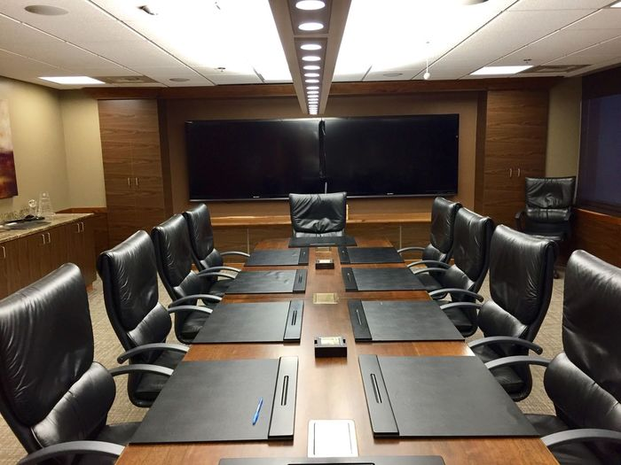 Executive meeting room where I work. It's going to be a busy week. My chair is the first on the right. Chair Desk Working Hard Board Room Table Education Projection Screen Lecture Hall In A Row Check This Out! Taking Care Of Business No People Business Large Group Of Objects Technology Conference My Work Business Office Working Work Conference Room Formal Taking Photos Check This Out