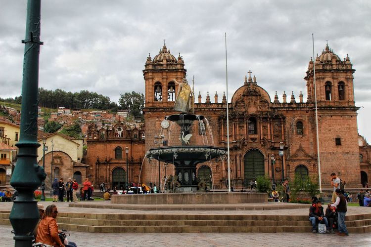 Cathedral Basilica of the Virgin of the Assumption Cusco, Peru City History Sky Architecture Built Structure Building Exterior Cathedral Catholicism Church