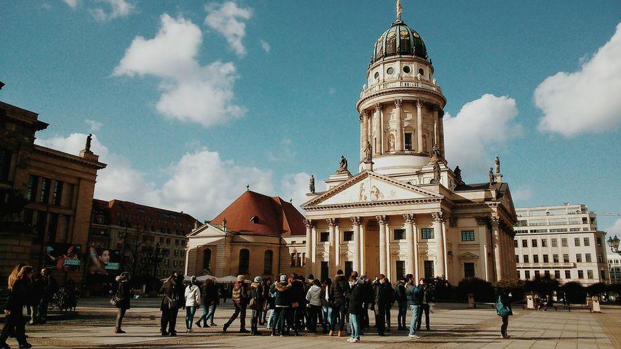 Group of people in front of gendarmenmarkt in berlin