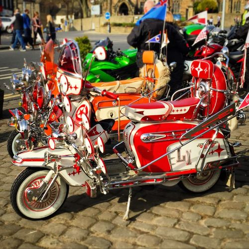 Scooters, Skipton high St Scooter Scooters Mods Mopeds Moped