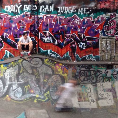 Skateboard The Purist (no Edit, No Filter) Graffiti Writing On The Walls