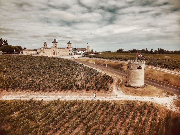 Cosy Castle Winery Wine Not Winemaking Wine EyeEm Best Shots The Architect - 2017 EyeEm Awards EyeEm Best Shots Malephotographerofthemonth Sky Nature Cloud - Sky Land Day Water Outdoors Plant No People Architecture Sunlight Wet Field Tree Built Structure Pattern Agriculture