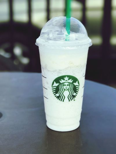 Starbucks Vanilla Bean Refreshment Food And Drink Close-up Focus On Foreground No People Drink Table Day Amateur