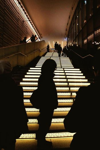 Silhouette Steps Steps And Staircases Walking Adult Night Welcome To Black Long Goodbye
