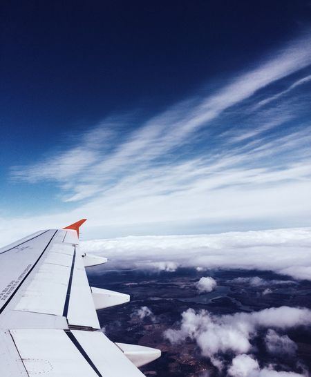 Sky VSCO Aircraft Flight ✈ Clouds Blue IPhone IPhone5 Photography Photo Vscocam