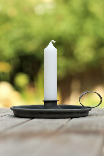 Autumn Candle See What I See Absence Candle Candlestick Holder Close-up Day Focus On Foreground Lighting Equipment Nature No People Outdoors Selective Focus Single Object Still Life Table Tree Wood - Material