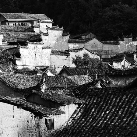 Old village My Street Photography My Traveling Photography From My Point Of View Village Old Village No People Architecture Blackandwhite Black & White Building Exterior Chinese Style Building
