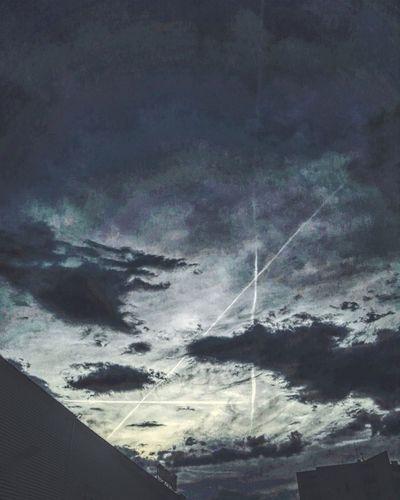 A Aleksander The Great Sky Clouds Airplane Blue Bluesky Sunset Street Alone City Life