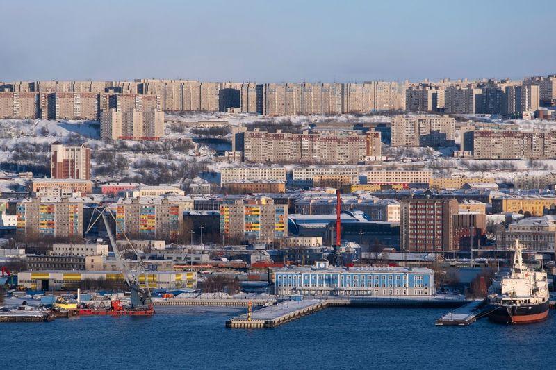 Murmansk Building Exterior Architecture Built Structure City Water Cityscape Sky Building Transportation