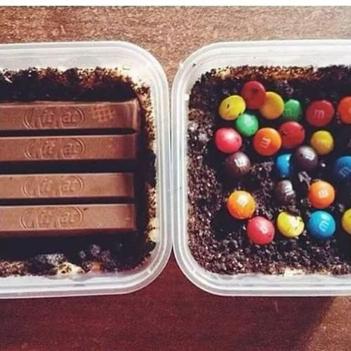 Can we do this? GrahamCakeWithKitkat GrahamCakeWithM &M's