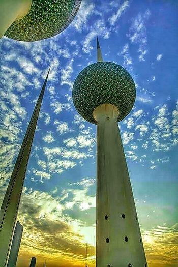 Kuwait Towers Clouds And Sky Taking Photos Iphonegraphy