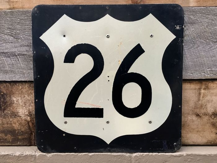 26 Close-up Communication Day Freeway Sign No People Number Outdoors Twenty Six