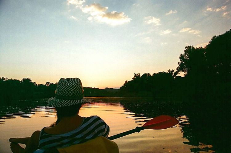 Check This Out1st of September we couldn't resist to do it one more time on this last hot Summer day. Sunset on Vistula . Kayaking up the River. shot with Minolta X700 on out of date 35mm Film Protecting Where We Play EyeEm Nature Lover