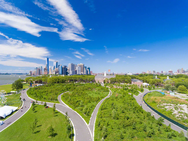 Governor Island. City High Angle View Urban Skyline Cloud - Sky Sky Outdoors City Life New York The Week Of Eyeem Summer Travel Destinations Droneshot Drone Photography Droneoftheday