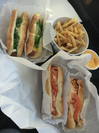 Chicago dogs - two ways, two each! Chicago Chicago Dog Hot Dogs Yum American Food Chicago Hot Dog Chicago Style Close-up Day Fast Food Food Food And Drink Freshness Indoors  More Please No People Ready-to-eat Street Food Yummy